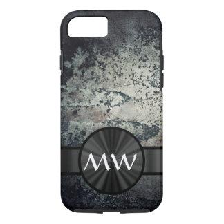 Metallischer Schwarzweiss-Rost iPhone 8/7 Hülle