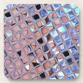 Metallischer silberner Disco-Ball spiegelt Imitat Getränkeuntersetzer