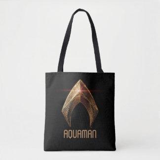 Metallisches Aquaman Symbol der Tasche