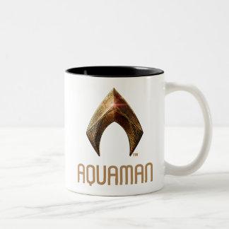 Metallisches Aquaman Symbol der Zweifarbige Tasse