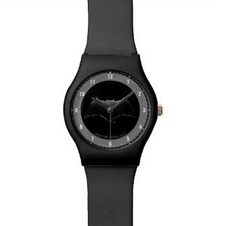 Metallisches Batman Symbol der Uhr