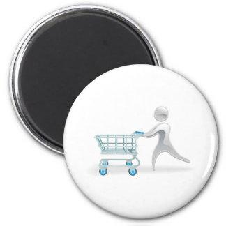 Metallisches Charakter-Einkaufswagen-Laufkatzekonz Magnete