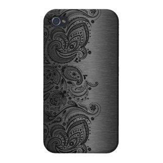 Metallisches dunkelgraues mit schwarzer iPhone 4/4S cover