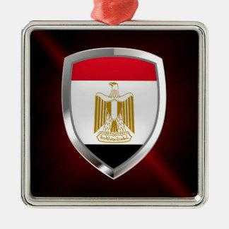 Metallisches Emblem Ägyptens Silbernes Ornament