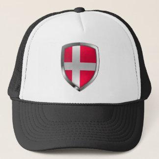 Metallisches Emblem Dänemarks Truckerkappe