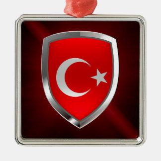 Metallisches Emblem der Türkei Silbernes Ornament