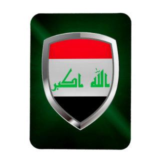 Metallisches Emblem des Iraks Magnet