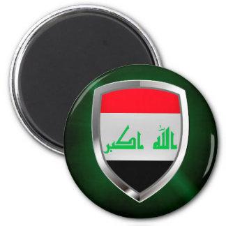 Metallisches Emblem des Iraks Runder Magnet 5,7 Cm