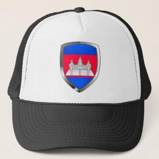 Metallisches Emblem Kambodschas Truckerkappe