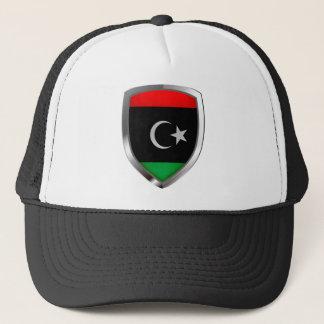 Metallisches Emblem Libyens Truckerkappe