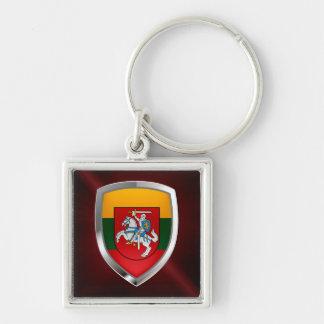 Metallisches Emblem Litauens Schlüsselanhänger