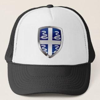 Metallisches Emblem Martiniques Truckerkappe