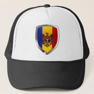 Metallisches Emblem Moldau Truckerkappe
