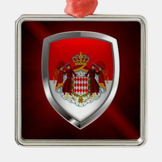 Metallisches Emblem Monacos Silbernes Ornament