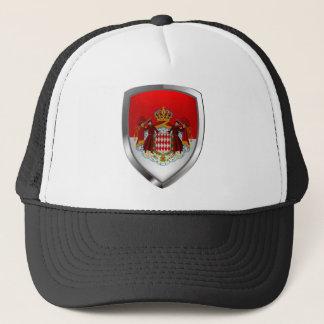 Metallisches Emblem Monacos Truckerkappe