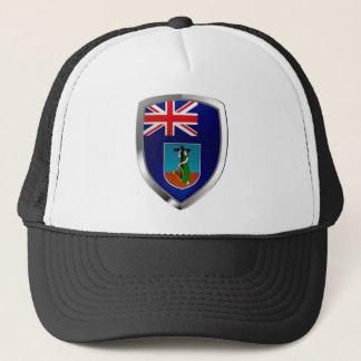 Metallisches Emblem Montserrats Truckerkappe