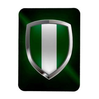 Metallisches Emblem Nigerias Magnet