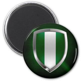 Metallisches Emblem Nigerias Runder Magnet 5,7 Cm