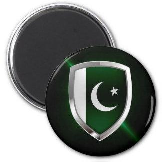 Metallisches Emblem Pakistans Runder Magnet 5,1 Cm