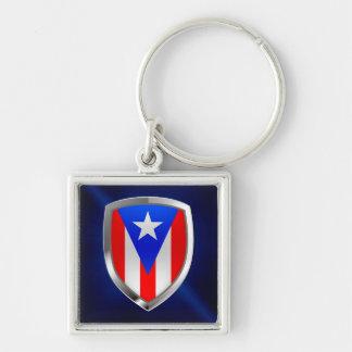 Metallisches Emblem Puertos Rico Schlüsselanhänger