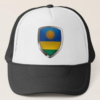 Metallisches Emblem Ruandas Truckerkappe