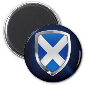Metallisches Emblem Schottlands Runder Magnet 5,7 Cm