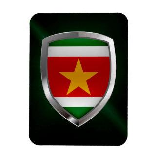Metallisches Emblem Surinams Magnet