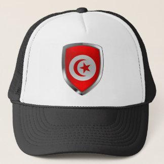 Metallisches Emblem Tunesiens Truckerkappe
