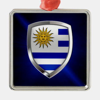 Metallisches Emblem Uruguays Silbernes Ornament