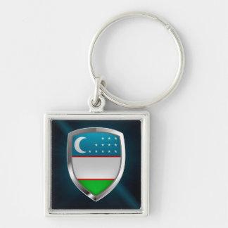 Metallisches Emblem Usbekistans Schlüsselanhänger