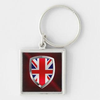 Metallisches Emblem Vereinigten Königreichs Schlüsselanhänger