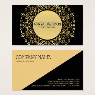 Metallisches Gold Mandela Visitenkarte