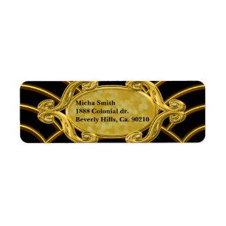 Metallisches goldene Bogen-Monogramm