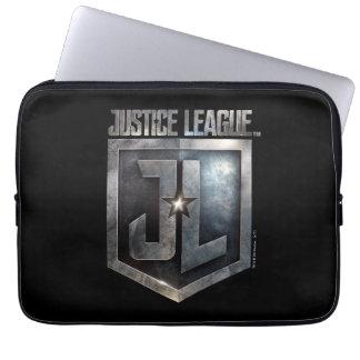 Metallisches JL Schild der Gerechtigkeits-Liga-  Laptopschutzhülle