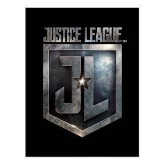 Metallisches JL Schild der Gerechtigkeits-Liga-| Postkarte