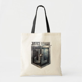 Metallisches JL Schild der Gerechtigkeits-Liga-| Tragetasche