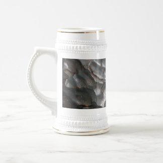 Metallisches Meteorit-Felsen-Muster, Bierglas