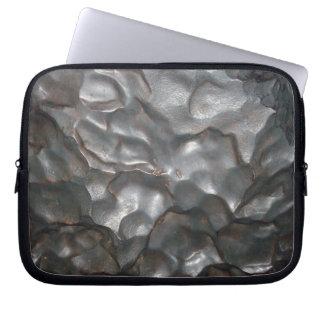 Metallisches Meteorit-Felsen-Muster, Laptop Sleeve