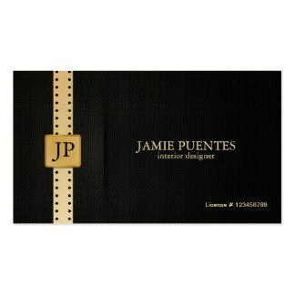 Metallisches Platin-Gold u. schwarze Visitenkartenvorlage