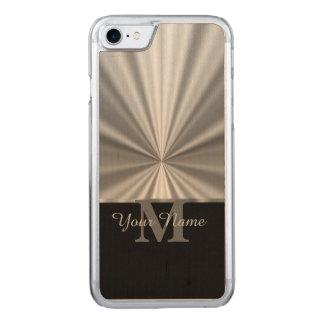 Metallisches schwarzes Monogramm des silbernen Carved iPhone 7 Hülle