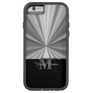 Metallisches schwarzes Monogramm des silbernen Tough Xtreme iPhone 6 Hülle