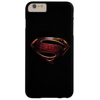 Metallisches Supermann-Symbol der Barely There iPhone 6 Plus Hülle