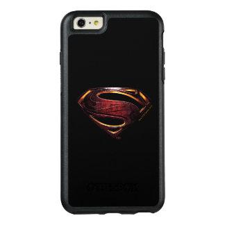 Metallisches Supermann-Symbol der OtterBox iPhone 6/6s Plus Hülle