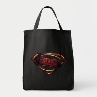 Metallisches Supermann-Symbol der Tragetasche