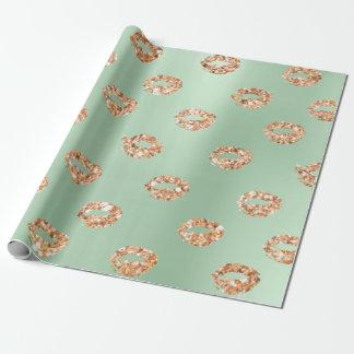 Metallisches tadelloses grünes Tiffany 3D Geschenkpapier
