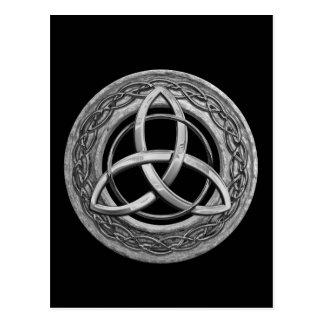 Metallkeltischer Dreiheits-Knoten Postkarte