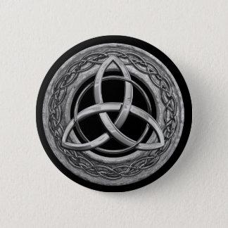 Metallkeltischer Dreiheits-Knoten Runder Button 5,1 Cm