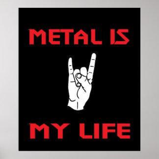 Metallleben-Plakat Poster
