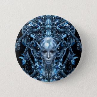 Metallmädchen Runder Button 5,7 Cm
