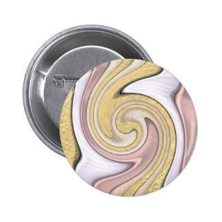 Metallmuster mit Glanz Runder Button 5,7 Cm
